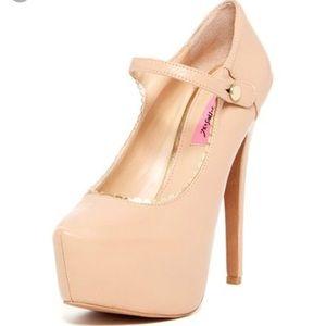 New! Betsey Johnson size 10 Nude Heels